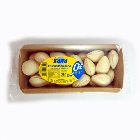 Cascarilla - Almendras rellenas bandeja 250 g **SIN AZÚCAR**